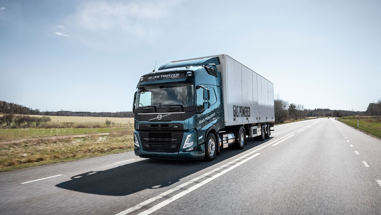 The gas-powered Volvo FM LNG is optimised for regional haul.